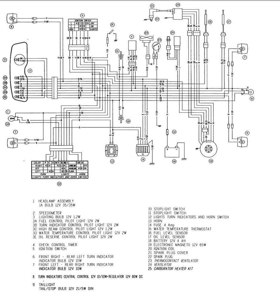 Derbi Senda 50 Wiring Diagram