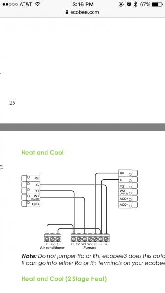 Ecobee Thermostat Wiring Diagram
