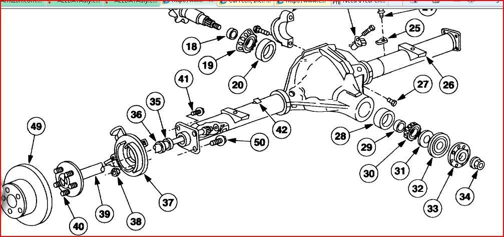 Ezgo Rear Axle Exploded Diagram