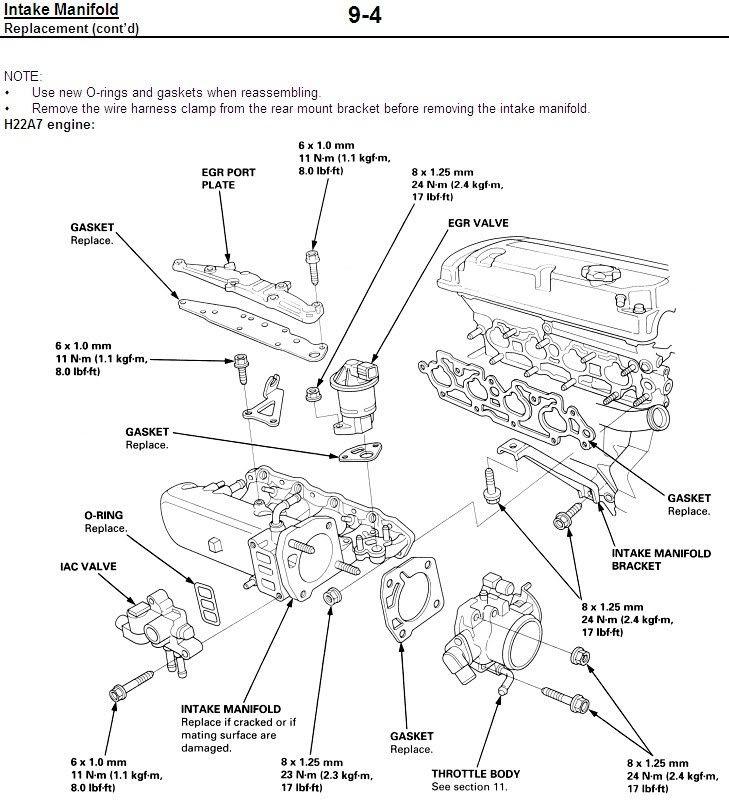 H22a Vacuum Diagram
