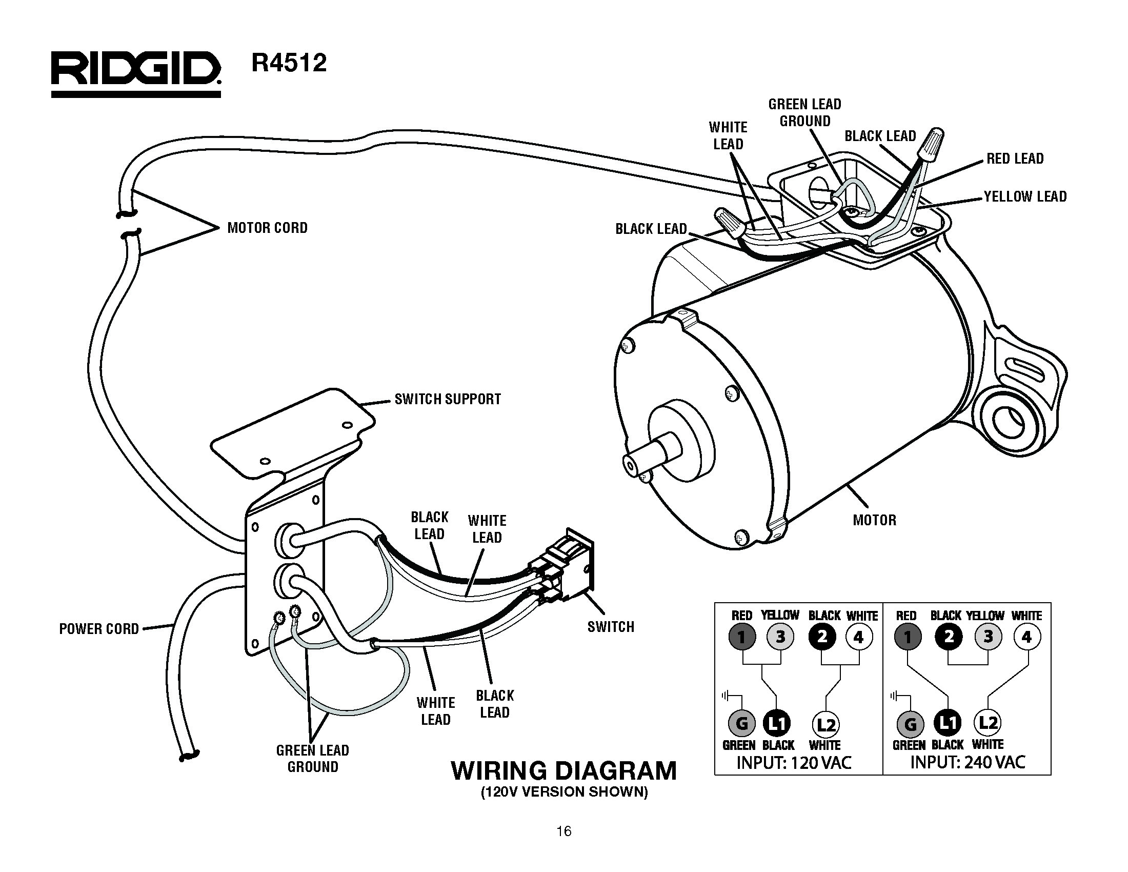 Hitachi C10rj Table Saw Wiring Diagram