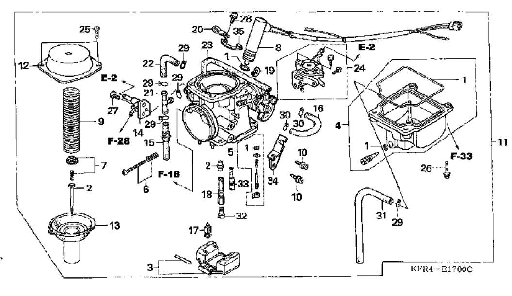 Honda Rancher 350 Carburetor Diagram