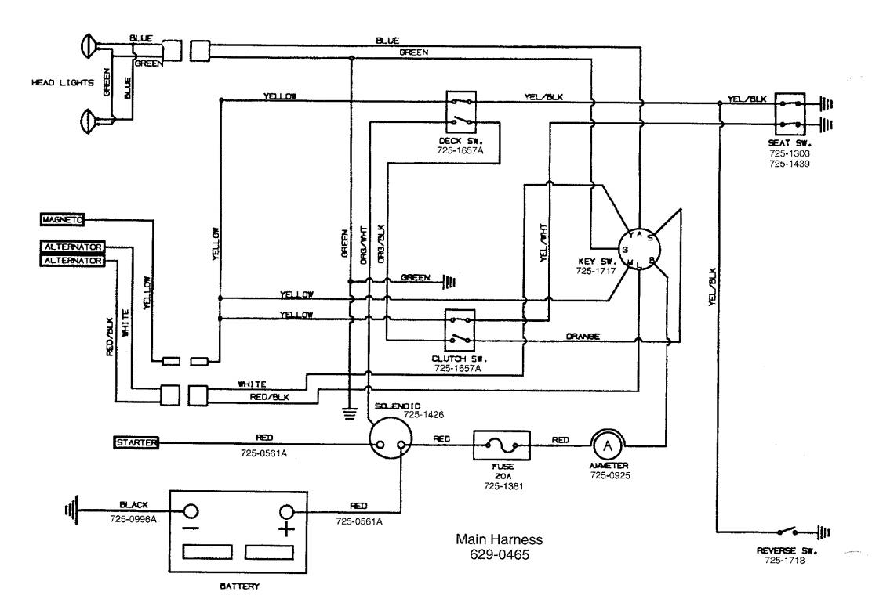 Huskee 12-40 Wiring Diagram