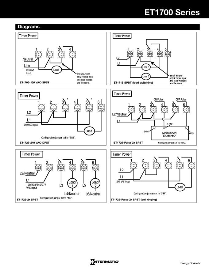 Intermatic Timer Wiring Diagram T101