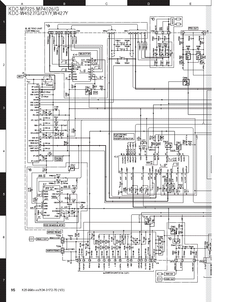 Kenwood Kdc Bt852hd Wiring Diagram