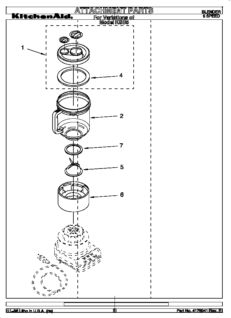 Kitchenaid Blender Parts Diagram
