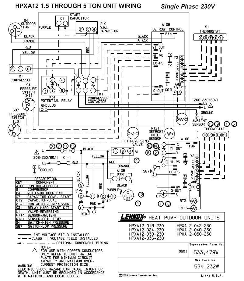 Lennox Gcs16-1853 Wiring Diagram