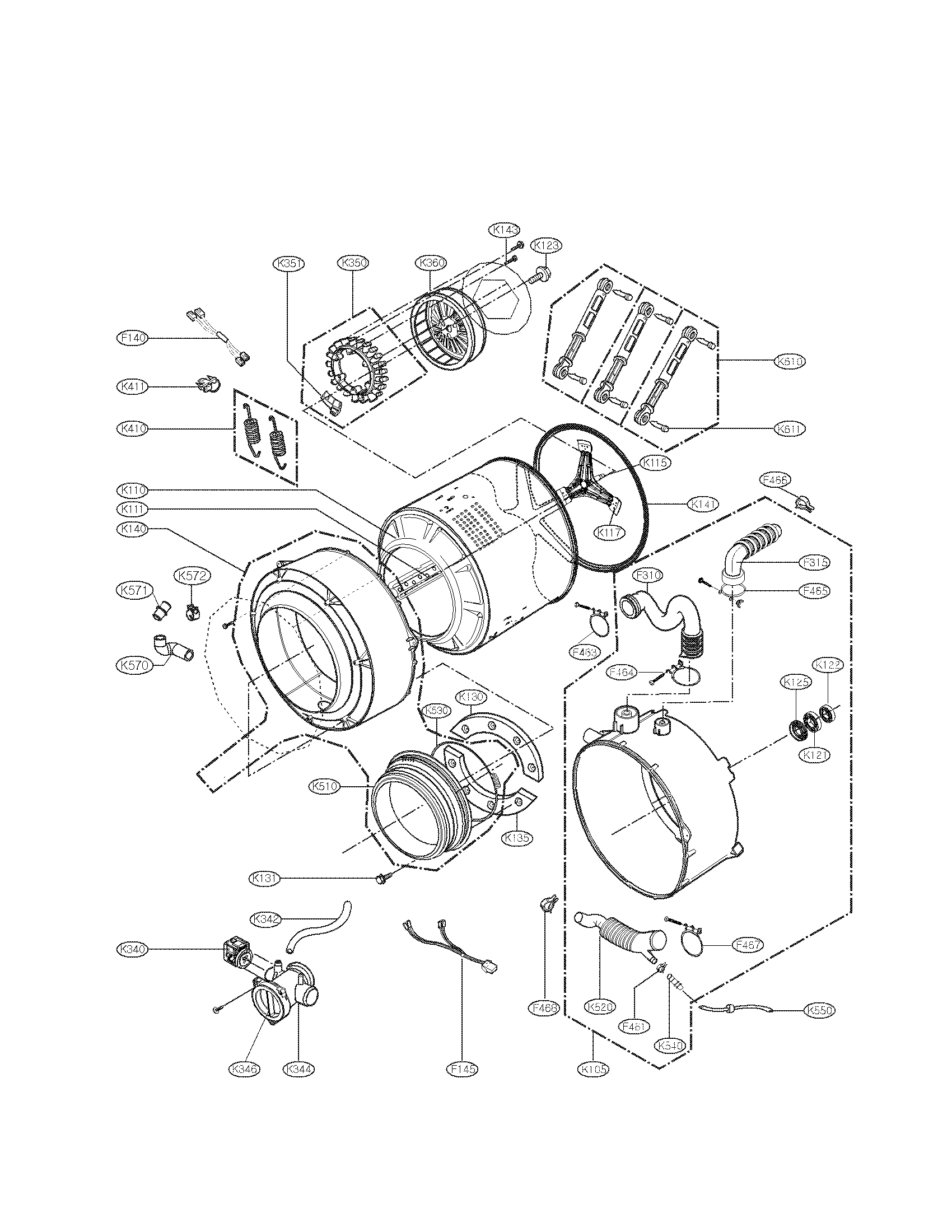 Lg Wm2050cw Parts Diagram