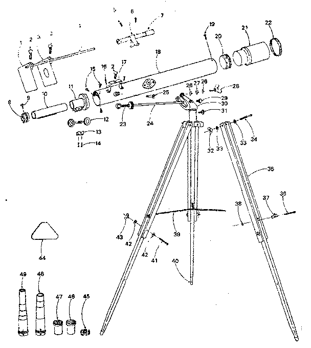 Newtonian Telescope Diagram