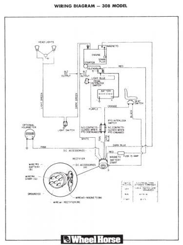 Old Wheelhorse Tractor Wiring Diagram