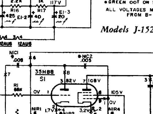Philco El-117 Wiring Diagram