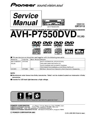 Pioneer Deh225 Wiring Diagram Manual