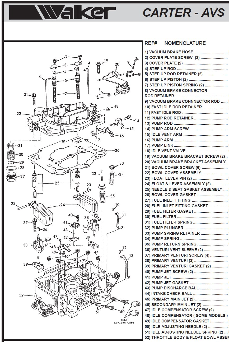 Rochester 4 Barrel Carburetor Diagram