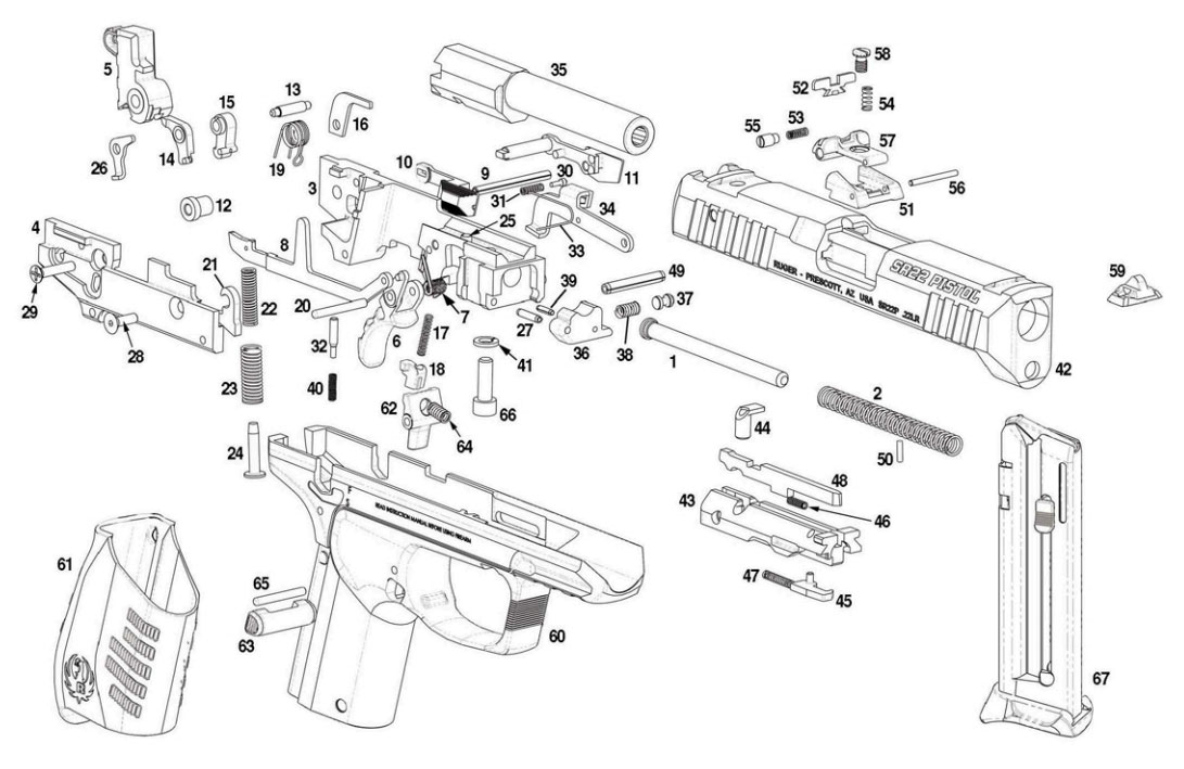 Ruger P95 Parts Diagram