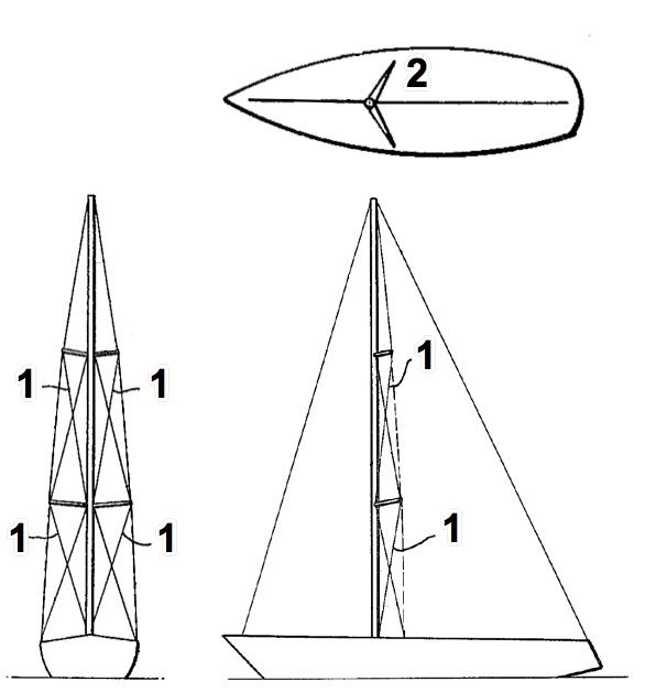Sailboat Standing Rigging Diagram