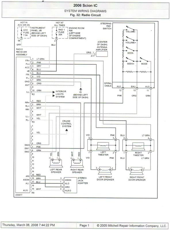 scion electrical wiring diagrams  schematic wiring diagram