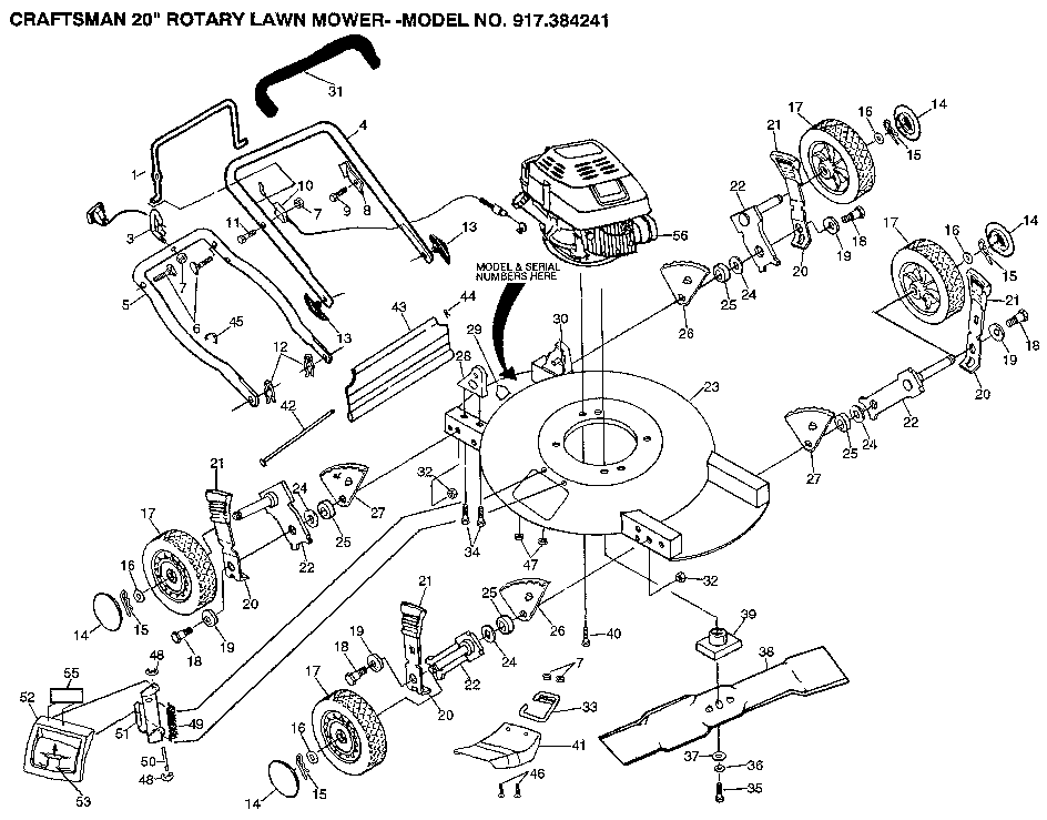 Sears Lawn Tractor Model 917.28856 Wiring Diagram