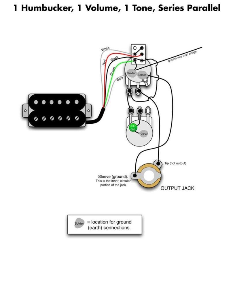 Single Conductor Humbucker Wiring