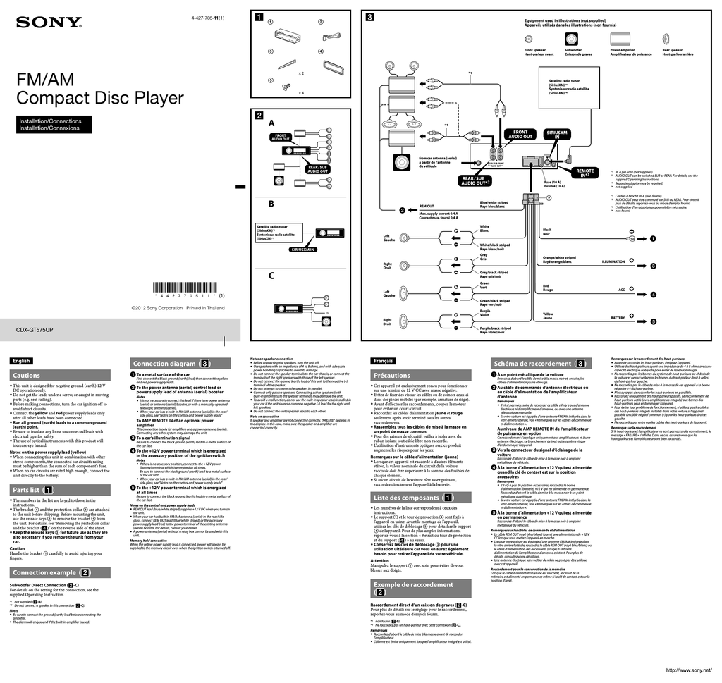 Sony Wx Gt90bt Wiring Diagram