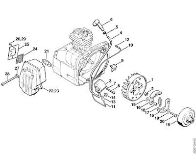 Stihl 038 Magnum Parts Diagram