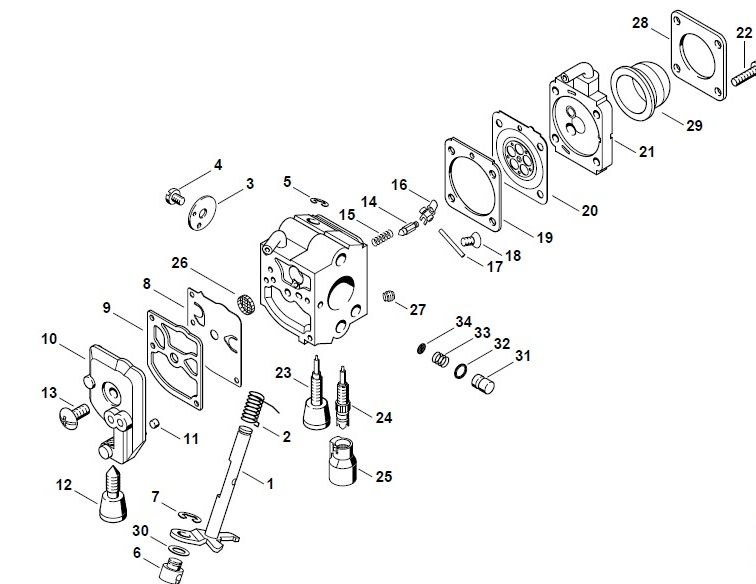 Stihl Hs45 Parts Diagram
