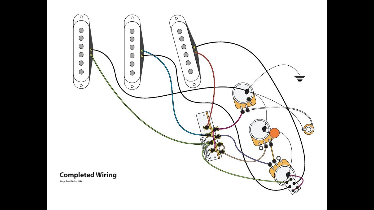 Stratocaster 5 Way Oak Switch Sss Wiring Diagram