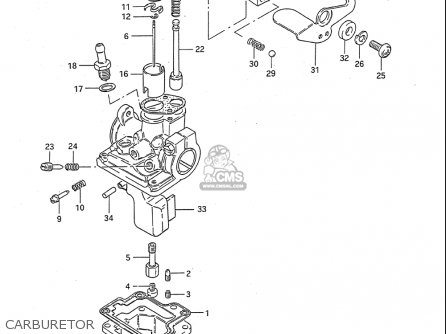 Suzuki Quadrunner 500 Carburetor Diagram