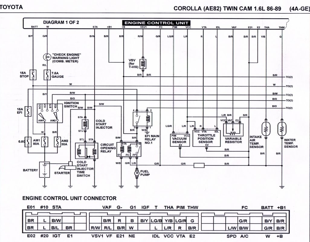 Wiring Schematic For Toyota Corolla