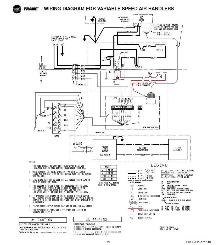 Trane Xe 800 Wiring Diagram