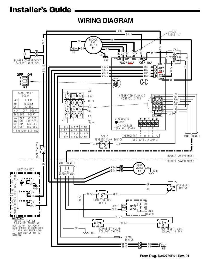 Trane Xl90 Wiring Diagram