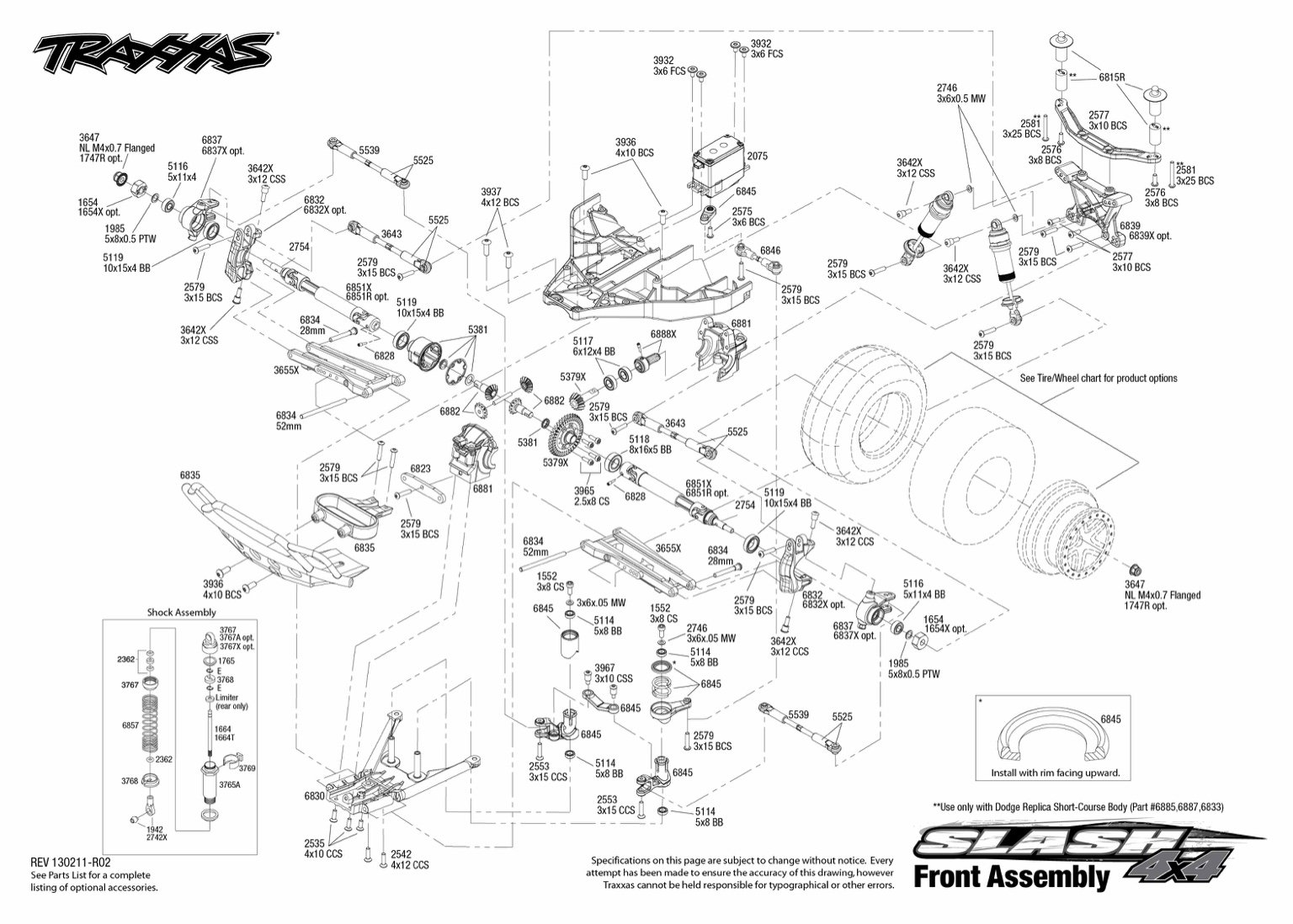 Traxxas Revo Parts Diagram