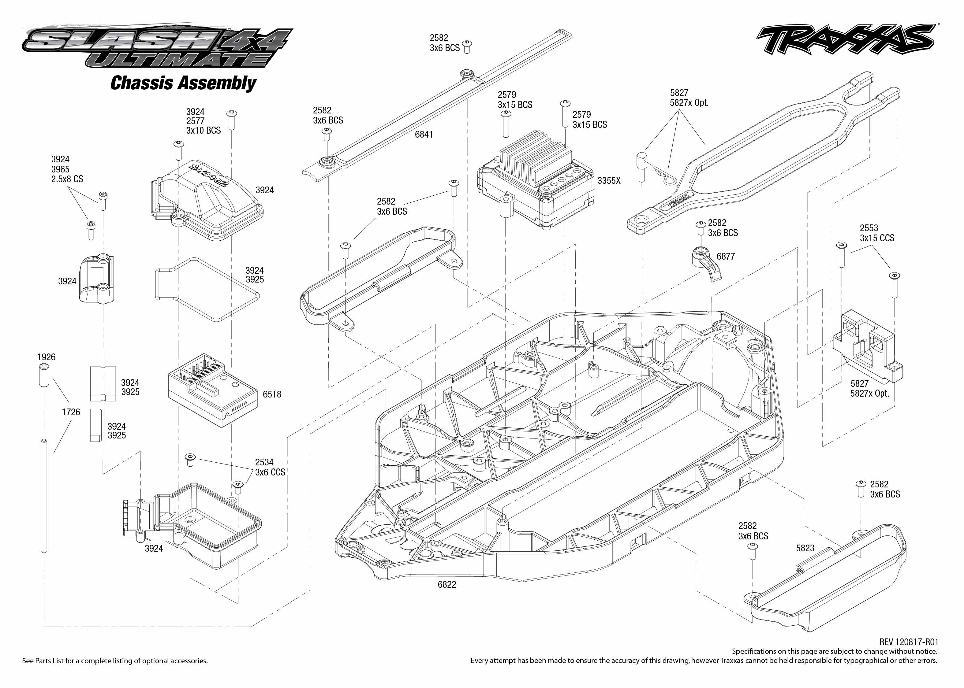 Traxxas Slash 1 16 Parts Diagram