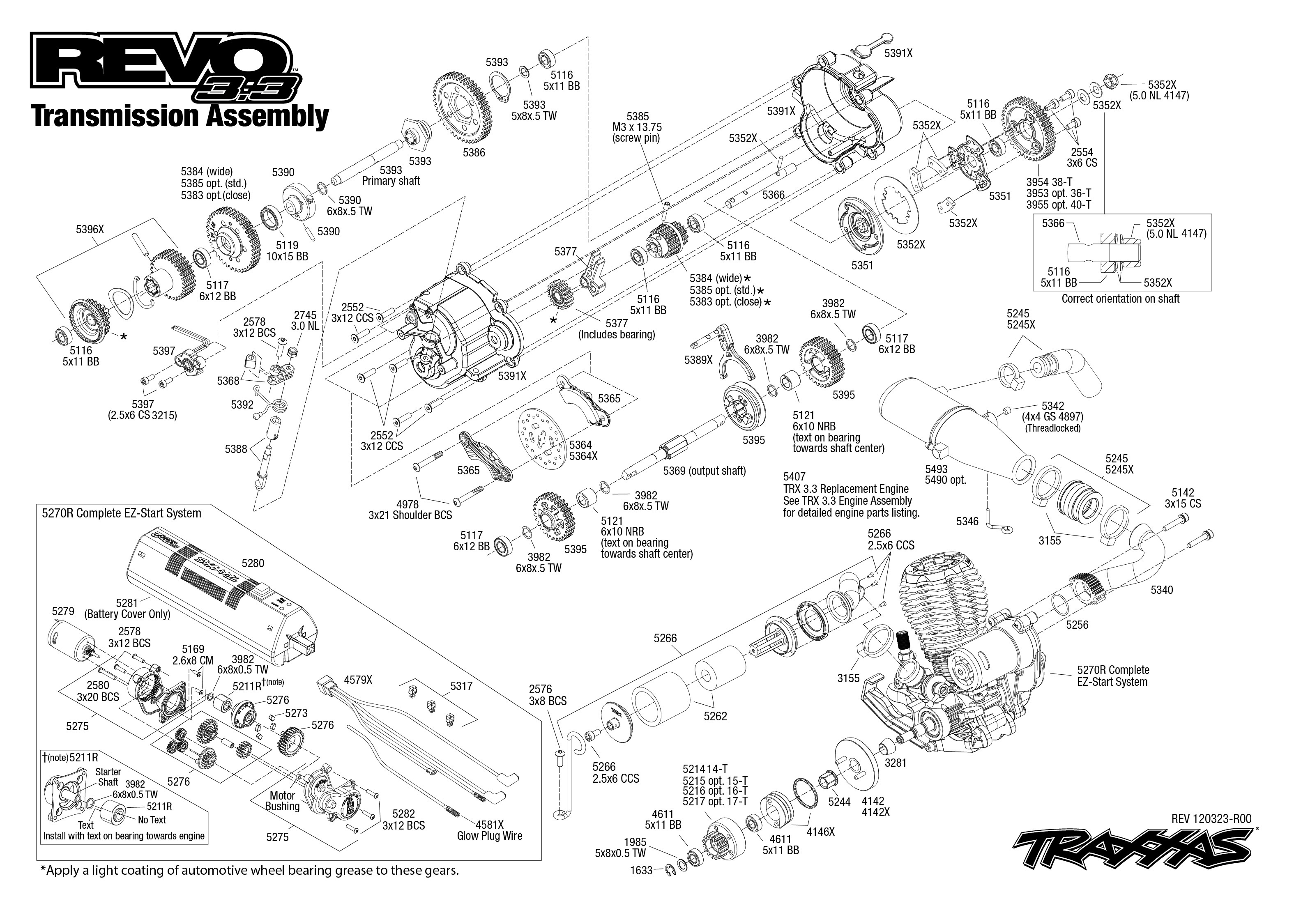 Traxxas Stampede Transmission Diagram