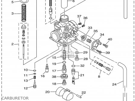 Ttr 125 Carburetor Diagram