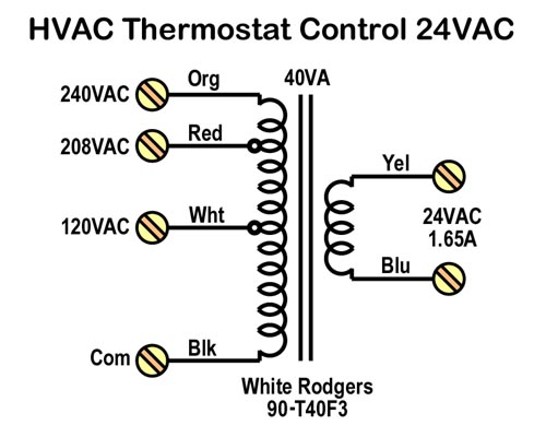 White Rodgers 90-t40m3 Wiring Diagram