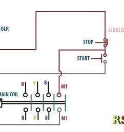 wiring diagram for a starter controlling a 480v motor with 120v start stop button [ 1280 x 720 Pixel ]