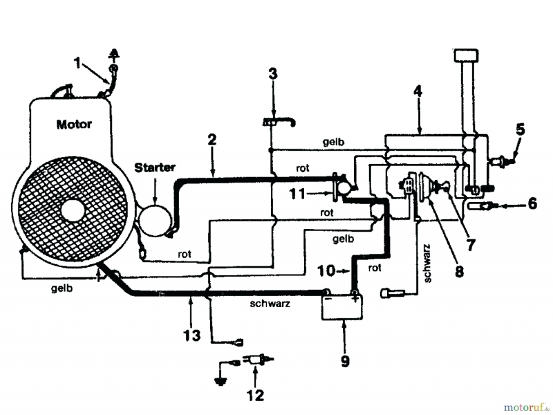 Wiring Diagram For Mtd Riding Mower 13as678h205
