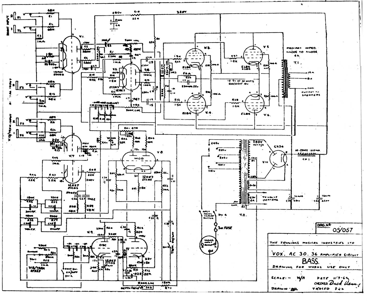 Wiring Diagram For Peavey Classic Solid State Hybrid