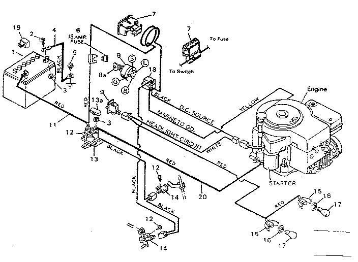 turf master riding mower wiring diagram