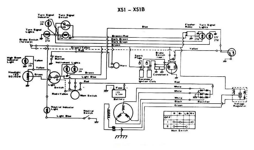 Xs1100 Wiring Diagram