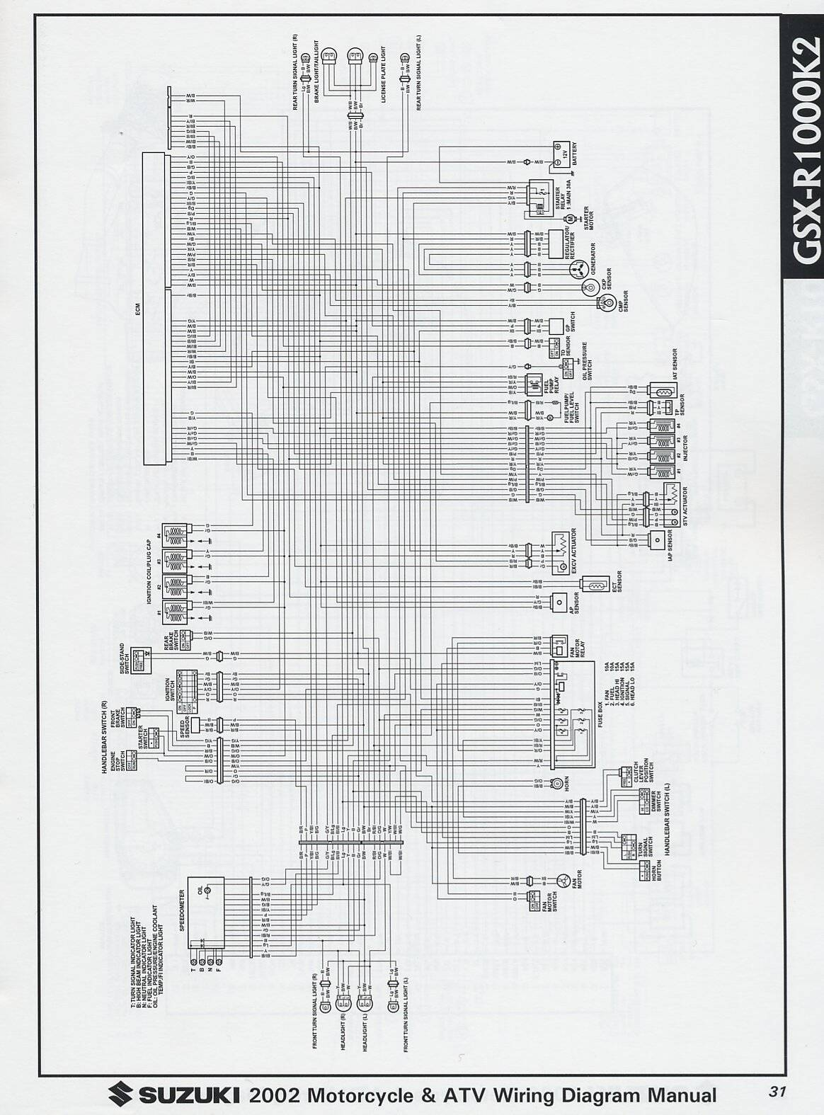 Wiring Diagram For 2002 Suzuki Gsxr 600 The Wiring Diagram 1996 CBR 900Rr Wire  Diagram 2002 Gsxr 600 Wiring Diagram