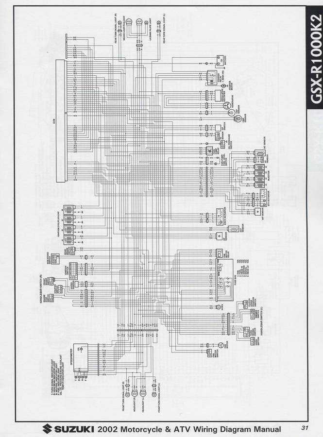 Wiring Diagram For 2002 Suzuki Gsxr 600 ndash readingrat net