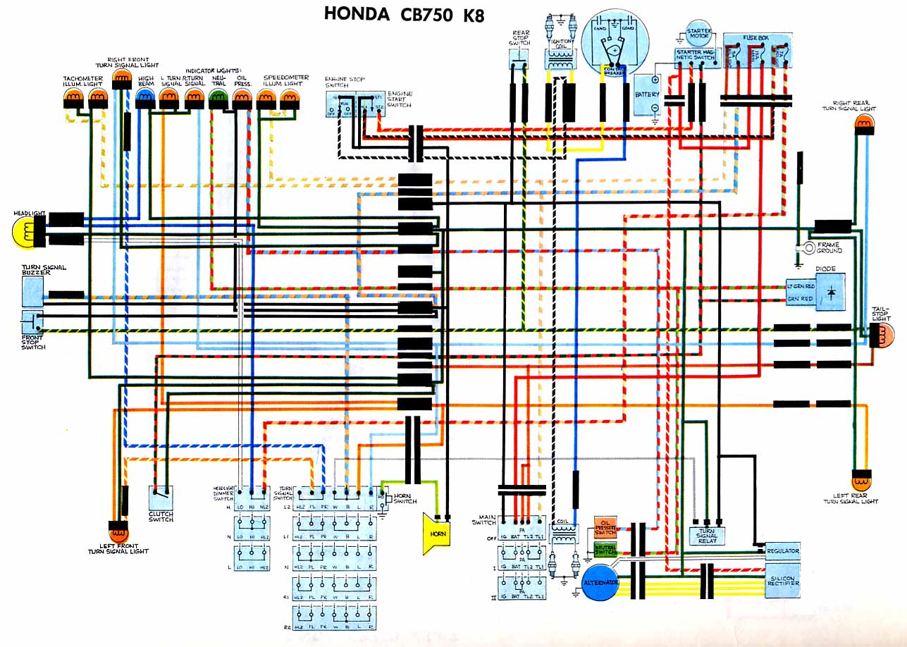 Cb550 Wiring Diagram Cb750k Cb360 Honda Gl1200 1977 On