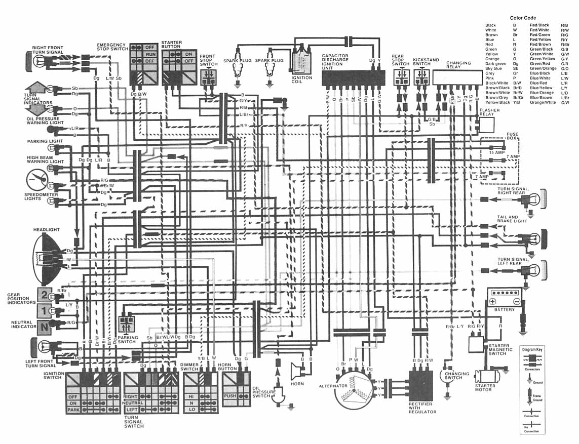kz1000 wiring diagram substation 82 get free image about