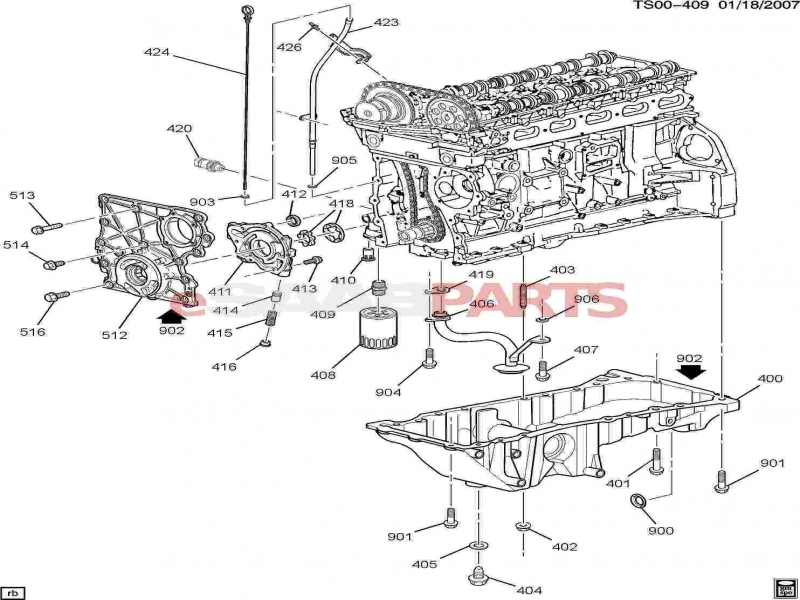 2004 Chevy Trailblazer Engine Diagram Oil Pump