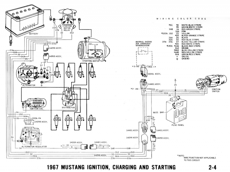 1967 Ford Mustang Alternator 7078 Connection Problem - Ford