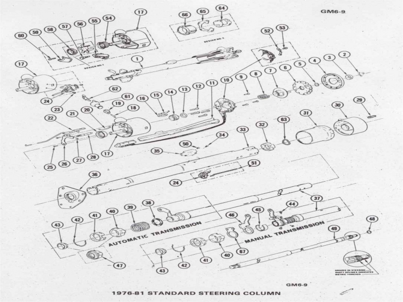 89 camaro steering wheel column diagram