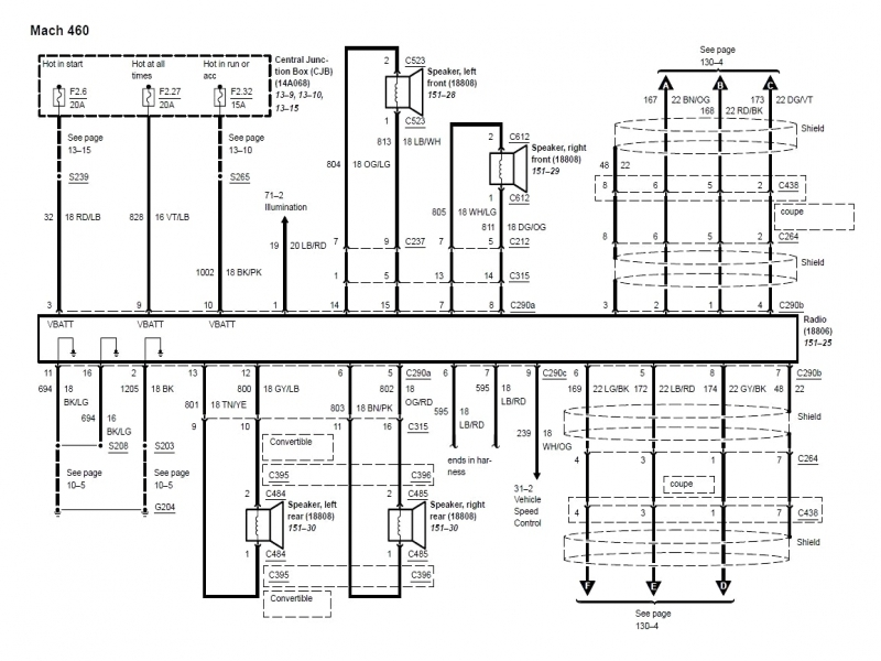 1996 Ford Mustang Mach 460 Wiring Diagrams  Wiring Forums