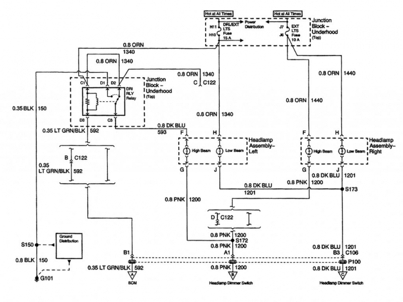 2007 Chevy Impala Headlight Wiring Diagram  Wiring Forums