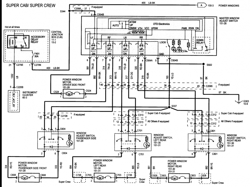 2003 Ford Explorer Power Window Wiring Diagram